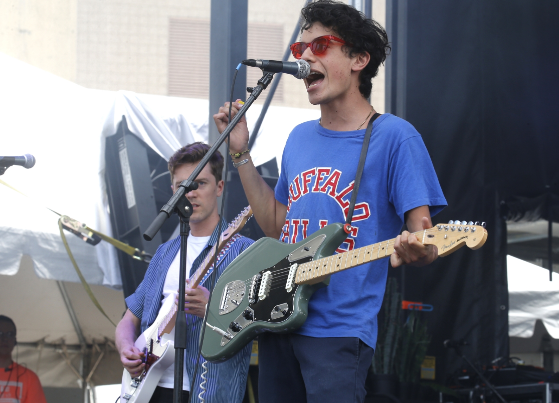 Jordan Topf, lead singer of the band Mainland, performs at Kerfuffle
